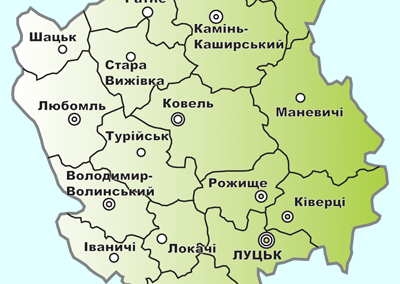 Карта Волині